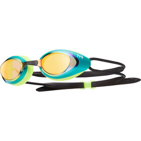 TYR Black Hawk Racing Mirrored Lunettes de protection Homme, gold/green
